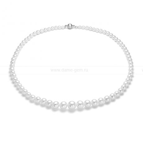 Ожерелье из белого морского жемчуга Акойя (Япония) 6-9,3 мм. Артикул 9504