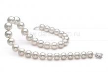 Ожерелье из белого морского жемчуга Акойя (Япония)  9,5-10 мм. Артикул 9505