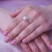 Кольцо из красного золота с белой жемчужиной 8,5-9 мм. Артикул 9555