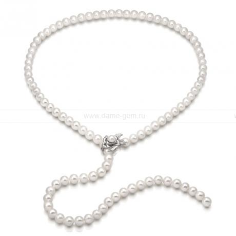 Ожерелье из белого речного жемчуга. Артикул 9641