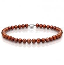 Ожерелье из шоколадного речного жемчуга. Артикул 9721