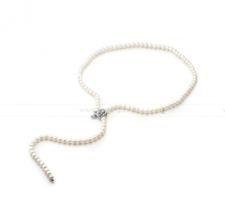 Ожерелье из белого речного жемчуга. Артикул 9724