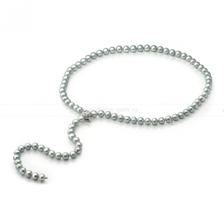Ожерелье из серого речного жемчуга. Артикул 9725