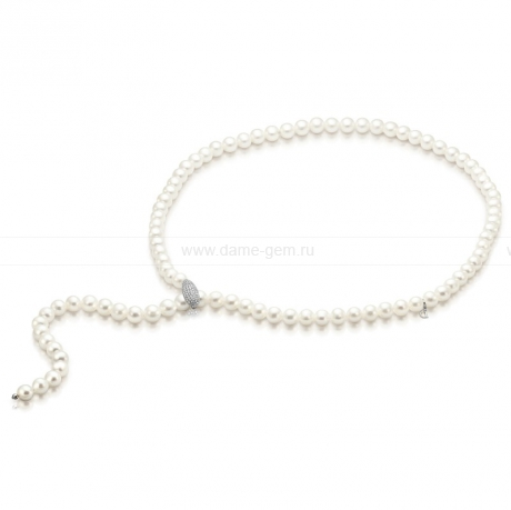 Ожерелье из белого речного жемчуга. Артикул 9727