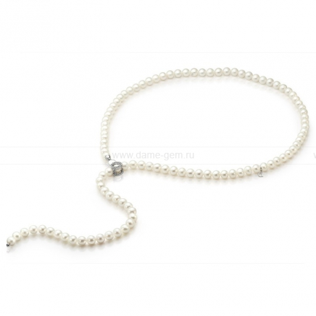 Ожерелье из белого речного жемчуга. Артикул 9729