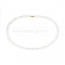 Ожерелье из белого жемчуга со вставками. Артикул 9733