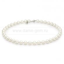 Ожерелье из белого речного жемчуга. Артикул 9734