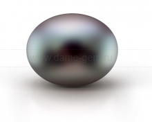 Жемчужина сплющенная черная. Артикул 9842