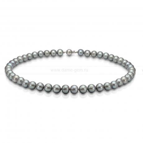 Ожерелье из серого речного жемчуга. Артикул 9871