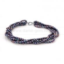 Ожерелье 5-рядное из черного жемчуга. Артикул 9904