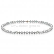 Ожерелье из серебристого морского жемчуга Акойя (Япония) 7-7,5 мм. Артикул 9913