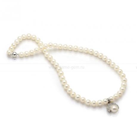 Ожерелье из белого речного жемчуга. Артикул 9952