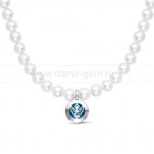 Ожерелье из белого речного жемчуга. Артикул 9955