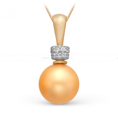 Кулон с золотой жемчужиной. Артикул 9978