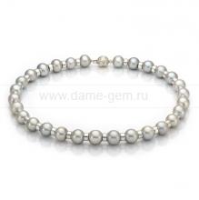 Ожерелье из 30 жемчужин из серого морского жемчуга 11-12 мм. Артикул 9981