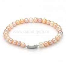 Ожерелье из 30 жемчужин из розового жемчуга. Артикул 9985