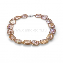 Колье (ожерелье) из розового жемчуга барокко. Артикул 9986
