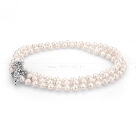 Ожерелье из белого речного жемчуга. Артикул 9999