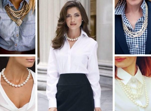Секреты стилиста - с чем носить жемчужные бусы в статье на dame-gem.ru